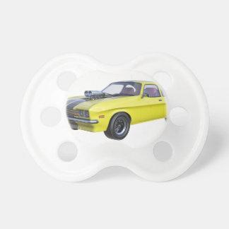 Chupete Amarillo del coche de 1970 músculos con la raya