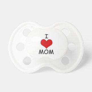 Chupete Amo el maniquí de la mamá