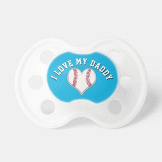 Chupete Amo mis pacificadores del béisbol del papá en sus