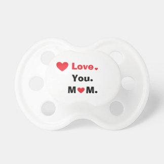 Chupete Amor personalizado usted mamá con los corazones