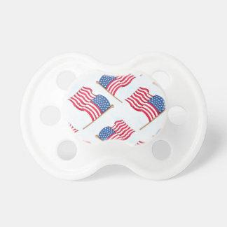 Chupete Bandera americana 4ta del azul blanco rojo de