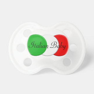 Chupete Bandera de Italia. Bebé italiano