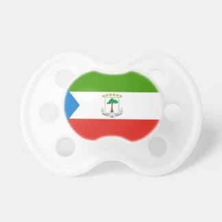 Chupete Bandera nacional del mundo de la Guinea Ecuatorial