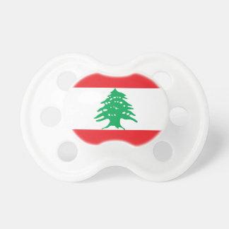 Chupete Bandera nacional del mundo de Líbano