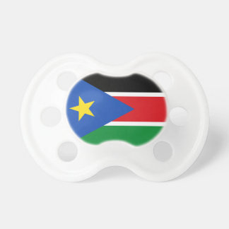 Chupete Bandera nacional del sur del mundo de Sudán