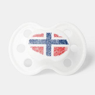 Chupete Bandera noruega de la huella dactilar del tacto