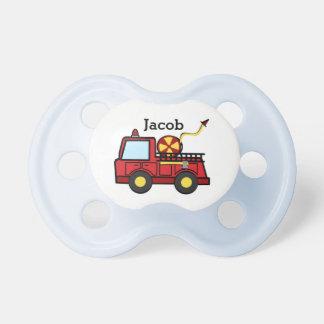 Chupete Bebé del coche de bomberos