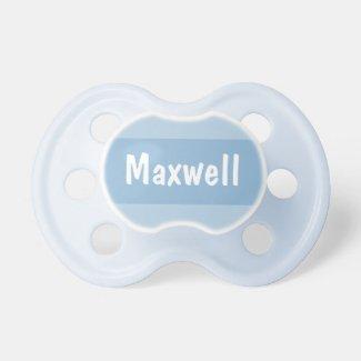 Chupete niño azul, personalizado con el nombre del bebé, diseño único