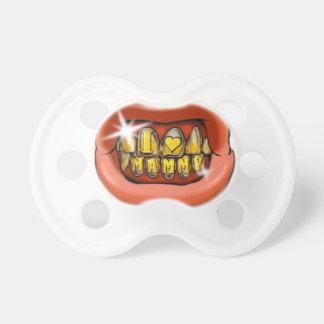 Chupete Boca con la ostentación de Grillz de los dientes