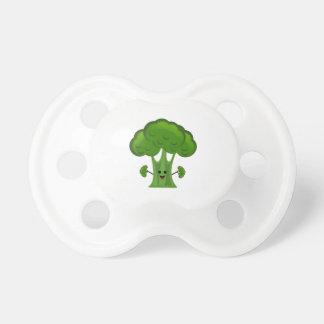 Chupete Bróculi verde feliz