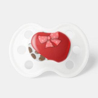 Chupete Caja del corazón del chocolate