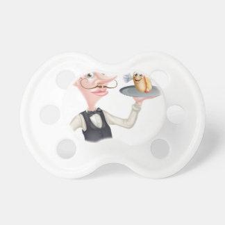 Chupete Camarero del perrito caliente del dibujo animado