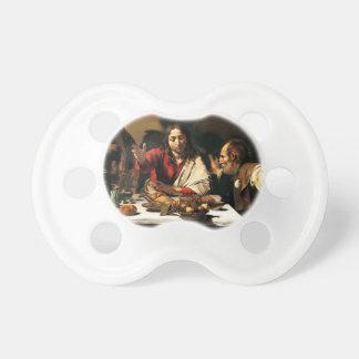 Chupete Caravaggio - cena en Emmaus - pintura clásica