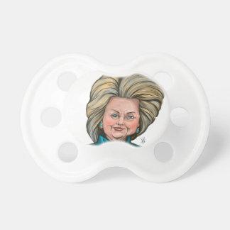 Chupete Caricatura de Hillary Clinton