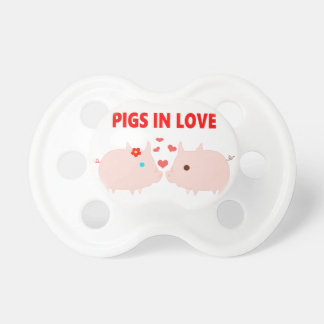Chupete cerdos en amor