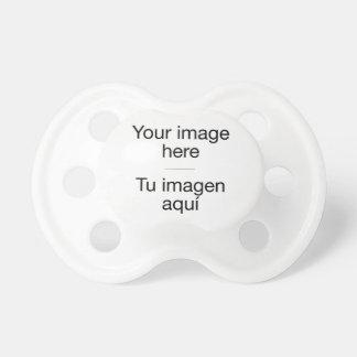 Chupete Chupe de bebé con plantilla en blanco y tu foto