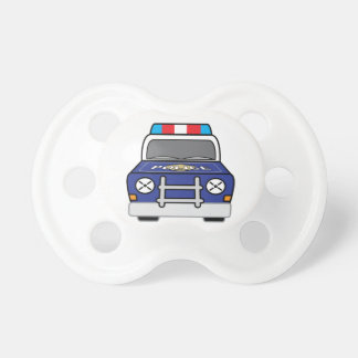 Chupete Coche patrulla azul intrépido de la policía