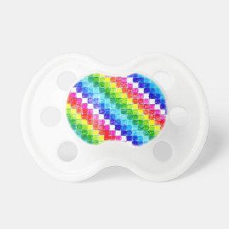 Chupete Coloreado en cuadrados del papel cuadriculado