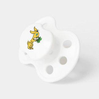 Chupete Conejito amarillo lindo para Pascua feliz preciosa