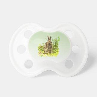 Chupete Conejo de conejito adorable de Brown en
