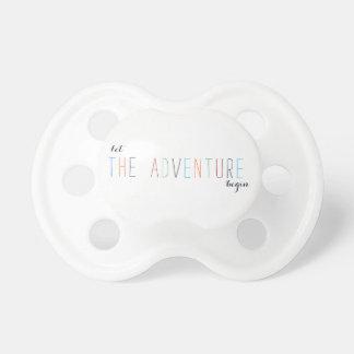 Chupete Deje la aventura comenzar