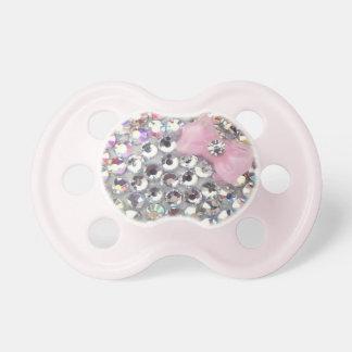 Chupete Diamante artificial cristalino con el pacificador