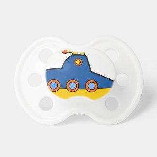 Chupete Dibujo animado del submarino del juguete