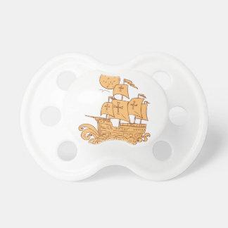 Chupete Dibujo de la luna del velero de Caravel