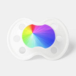 Chupete Diseño del espectro del arco iris