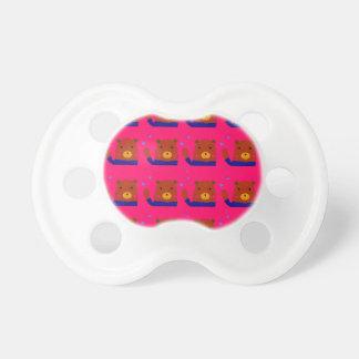 Chupete Diseño del rosa de los peluches