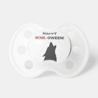 Chupete Diseño feliz de Halloween del hombre lobo del