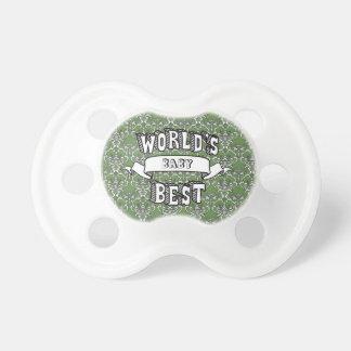 Chupete El mejor texto en blanco de la tipografía del bebé