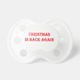 Chupete El navidad está detrás otra vez