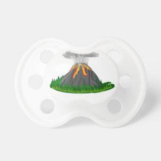 Chupete erupción y fuego del volcán