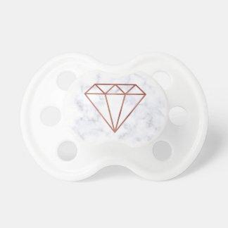 Chupete falso mármol color de rosa claro elegante del