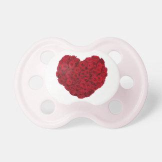 Chupete Forma color de rosa del corazón