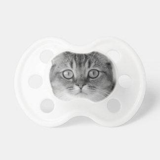 Chupete Gato blanco y negro que mira derecho usted