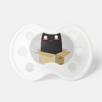 Chupete Gato negro en una caja
