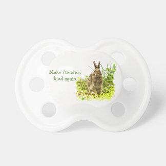 Chupete Haga el pacificador del conejo de conejito de la