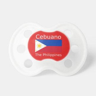 Chupete Lengua de Cebuano y bandera de Filipinas