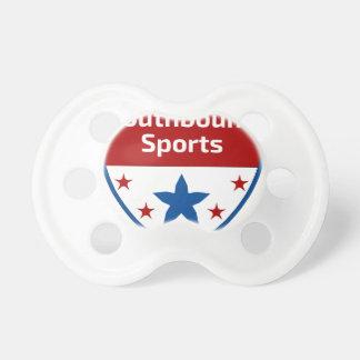 Chupete Logotipo Southbound del escudo de los deportes