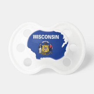Chupete Mapa de la bandera de Wisconsin