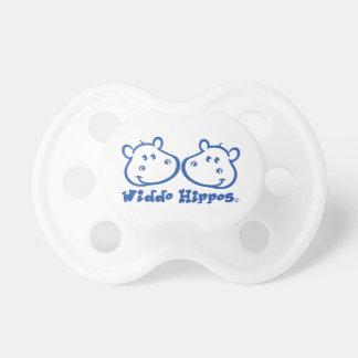 Chupete Marca de la ropa del bebé de los hipopótamos de