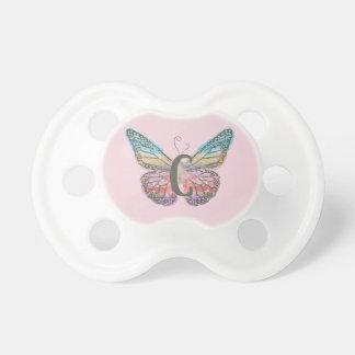 Chupete Mariposa con la letra C