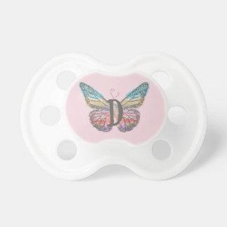 Chupete Mariposa con la letra D