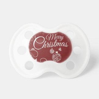 Chupete mensaje de las Felices Navidad