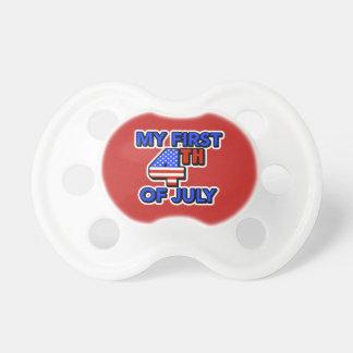 Chupete Mi primer 4to del bebé de julio patriótico