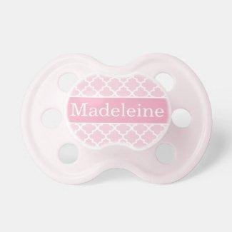 Chupete niña rosa, personalizado el nombre para hacerlo más original