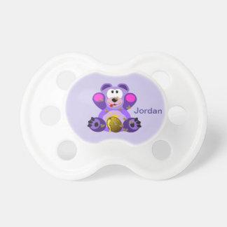 Chupete Oso del peluche púrpura lindo del niño