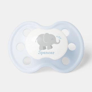 Chupete Pacificador de encargo del bebé elefante azul y